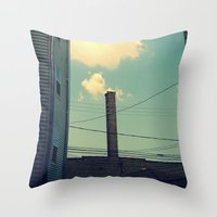 Chicago Clouds And Smoke… Throw Pillow