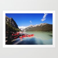 Lake Louise in Alberta, Canada Art Print
