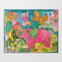 Amazing You Pink Elephant Canvas Print