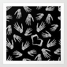 Skeleton Love Art Print