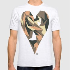 Heart Mens Fitted Tee Ash Grey SMALL