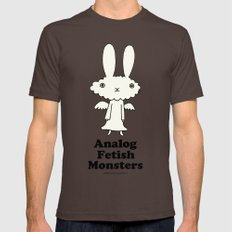 Angel Rabbit (Analog Fet… Mens Fitted Tee Brown SMALL