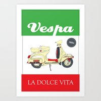 La Dolce Vita // Vespa Art Print