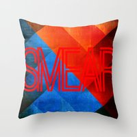 Smear 1 Throw Pillow