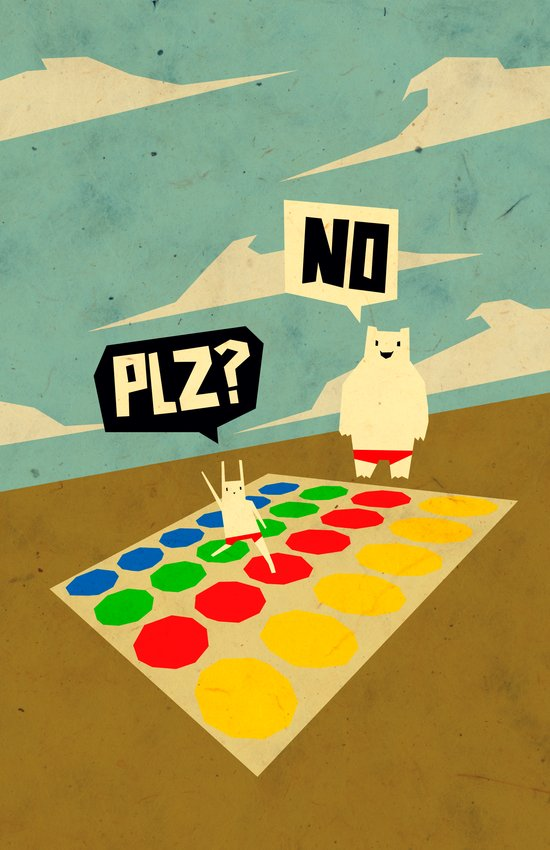 Yeti Doesn't play twister Canvas Print