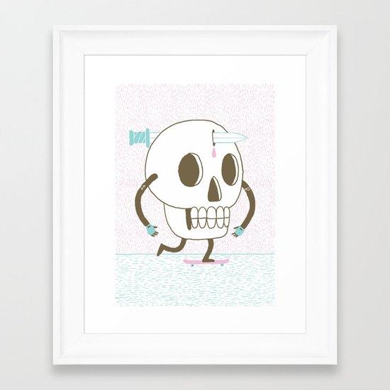 As I Skate through the Valley of Death Framed Art Print