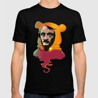 Edgar Allan Pooh Mens Fitted Tee Black SMALL