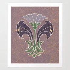 Art Deco Flowers Art Print