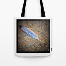 Feather from a Sea Gull Tote Bag
