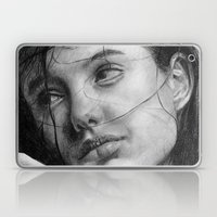 Angelina Jolie Traditional Portrait Print Laptop & iPad Skin