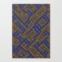 Blue Tribe Canvas Print