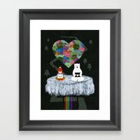 yes yes paw Framed Art Print