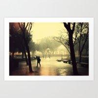Rusty Rain Art Print