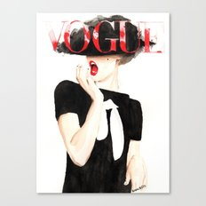 Vogue Magazine Cover. Frida Gustavsson. Fashion Illustration. Canvas Print