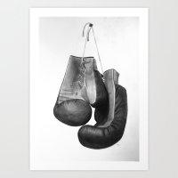 Boxing Gloves Art Print