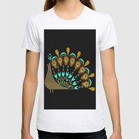 peacock Womens Fitted Tee Ash Grey SMALL