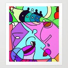 Color Spot Art Print