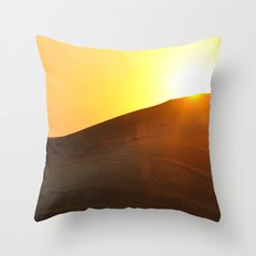 Sunset Desert Throw Pillow