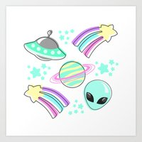 In Space You're Adorable Art Print