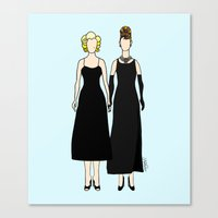 Little Black Dress of Audrey Marilyn Canvas Print