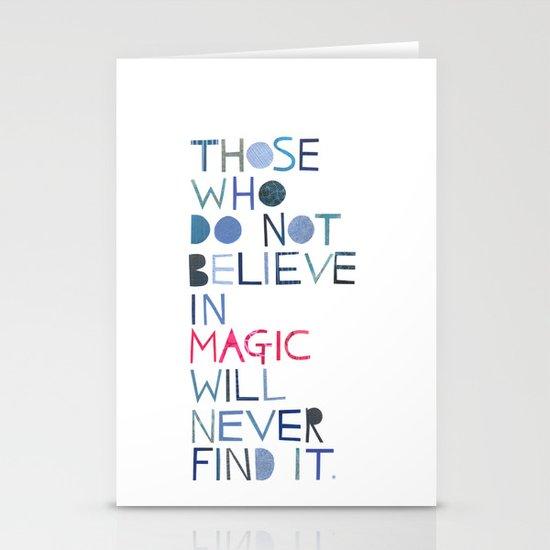 Believe in magic... Stationery Card