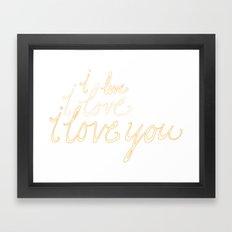 the darcy way Framed Art Print