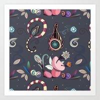 camtric fantasy pattern Art Print