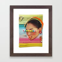 What are the birdies saying? | Collage Framed Art Print