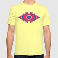 Pink Eye Mens Fitted Tee Lemon SMALL