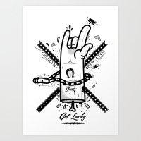 Get Lucky Art Print