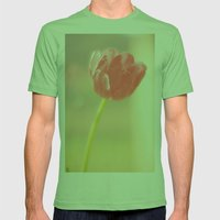 Pink Tulips Mens Fitted Tee Grass SMALL