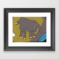 Handephant Framed Art Print