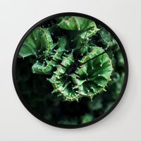 Emerald Green Cactus Bot… Wall Clock