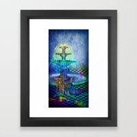 Princess of colors Framed Art Print