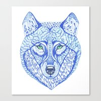 ice wolf Canvas Print