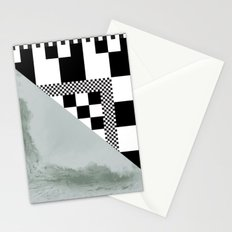 waves/grid #4 Stationery Cards