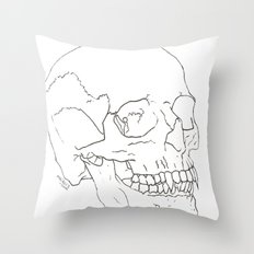 Vamp Skull Throw Pillow