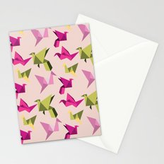 pink paper cranes Stationery Cards