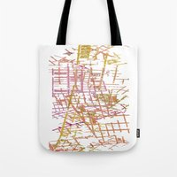 NYC Map lines Tote Bag