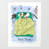 Bed time #2 Art Print