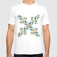 Symbol abstrac Mens Fitted Tee White SMALL