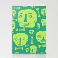 Skulls & Bones I - Green Stationery Cards