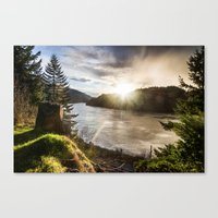 Columbia River Gorge - O… Canvas Print