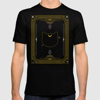 Luna Mens Fitted Tee Black SMALL