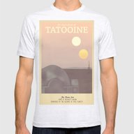 Retro Travel Poster Seri… Mens Fitted Tee Ash Grey SMALL
