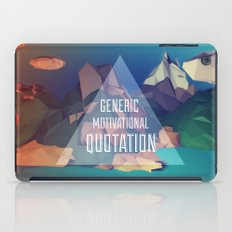 Generic Motivational Quotation iPad Case