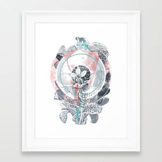 /blo͞om/ Framed Art Print
