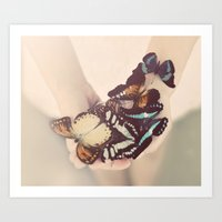 Butterfly Collector Art Print