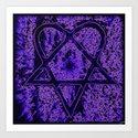 Violet Thoughts - Heartagram Art Print