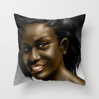 Poetess Heard Throw Pillow